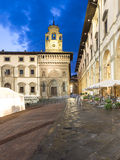 Glimpse of the square vasari also known as the big square at night Stock Photography