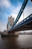 Glimpse of Tower Bridge, view from the left. London, UK. Stock Photos