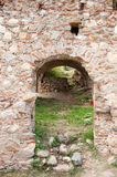 Glimpse in the town Mystras. Glimpse in the Byzantine town Mystras at the Greek peloponnese Royalty Free Stock Image