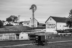 A glimpse of traditional lifestyle in The Amish Village, Pennsylvania stock image