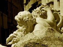 Glimpse of trevi's fountain in rome Stock Photo