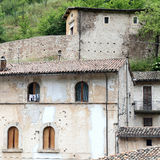 Glimpse of Visso, beautiful village in the Province of Macerata Royalty Free Stock Photo