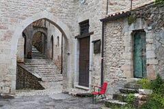 Glimpse of Visso, beautiful village in the Province of Macerata Stock Photo