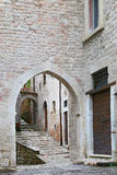 Glimpse of Visso, beautiful village in the Province of Macerata Stock Photography
