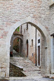 Glimpse of Visso, beautiful village in the Province of Macerata Stock Images