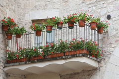 Glimpse of Visso, beautiful village in the Province of Macerata Royalty Free Stock Images