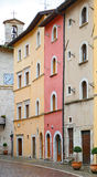 Glimpse of Visso, beautiful village in the Province of Macerata Stock Photos