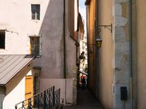 Glimpses on the walls of buildings in Annecy France. Glimpses on the walls of buildings in Annecy stock photography