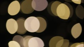 Glimt för gnistrande för guld- guld- jul för Bokeh bakgrund festligt stock video