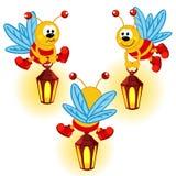 Glimworm met lantaarn royalty-vrije illustratie