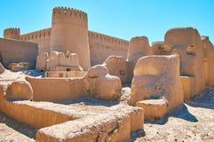 Glin ruiny w antycznym Rayen fortecy, Iran obraz stock
