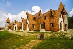 Glina kasztel, Czarodziejska dolina, Rumunia emerytura - 27 2016 Lipiec - Zdjęcia Royalty Free