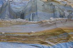 Glina, skała i piasek w warstwach, Obraz Stock