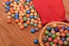Glina wykłada marmurem piłki retro zabawki Rocznik zabawki Krótkopędu rolki, sztuki marmury/ Zdjęcia Royalty Free