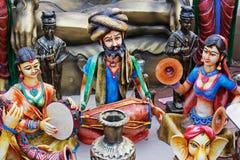 Glina zrobił lalom, rękodzieło rzeczy na pokazie, Kolkata Zdjęcia Royalty Free