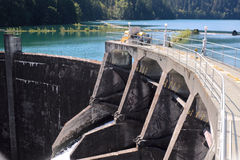 Glines Canyon Dam and Lake Mills Royalty Free Stock Photo