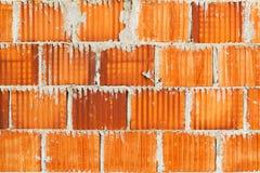 Gliniana bloku ściana z cegieł powierzchnia Obrazy Royalty Free