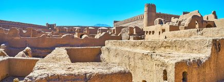 Gliniana cytadela Rayen, Iran Obrazy Royalty Free