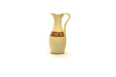 Gliniana dekoracyjna waza odizolowywa na białym tle Obraz Royalty Free