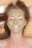 gliniana facial maski kobieta zdjęcia stock