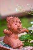 Gliniana lala, szczęścia pojęcie obrazy stock