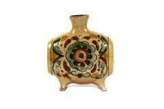 gliniana stara malująca waza Zdjęcie Royalty Free
