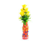 Gliniana waza na biel ziemi Obrazy Stock