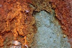 Gliniana ziemia, mieszana glina, denna faleza Obraz Stock