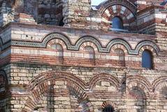 Gliniane cegły i płytki budynek w ruinach Zdjęcie Stock