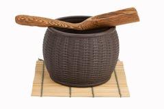 glinianego garnka magazynowania herbata Obraz Stock