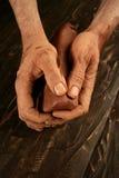 glinianej craftmanship ręk garncarki ceramiczna praca obraz stock