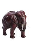 Glinianej figurki Tajlandzki słoń na białym tle Zdjęcie Royalty Free