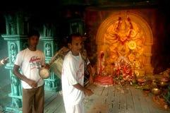 gliniani durga festiwalu idolów ind s Fotografia Royalty Free