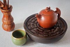 Gliniani herbaciani naczynia Zdjęcia Stock
