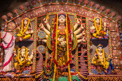Gliniani idole w Durga Puja fotografia royalty free