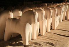 Gliniani konie Obraz Stock