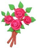 gliniani kwiaty Obraz Stock