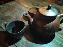 Gliniani teapots Zdjęcia Stock