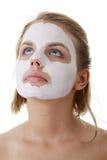 gliniani twarzy kobiety maski potomstwa Zdjęcie Royalty Free