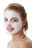 gliniani twarzy kobiety maski potomstwa Zdjęcia Royalty Free
