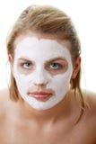gliniani twarzy kobiety maski potomstwa Zdjęcie Stock