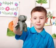 gliniany bawić się dzieciaka Obrazy Stock