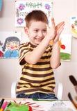 gliniany bawić się dzieciaka Zdjęcie Royalty Free