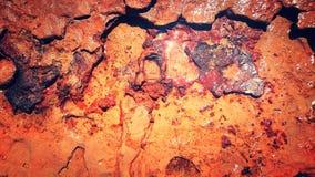Gliniany czerwony ocean Fotografia Stock