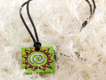 Gliniany amuletu słońce Obrazy Royalty Free