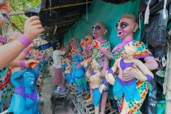 Gliniany idol żeńscy demony przygotowywa Zdjęcia Royalty Free