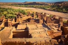 Gliniany kasbah Ait Benhaddou w Maroko obraz stock