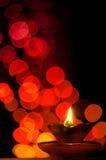 Gliniany lampy i czerwieni bokeh Zdjęcia Stock