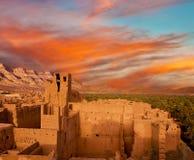 Gliniany miasto w północy Afryka Obraz Royalty Free