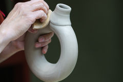 Gliniany naczynie Handmade Obrazy Stock